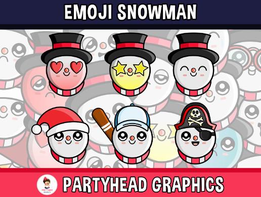 Emoji Emotion Snowman Faces