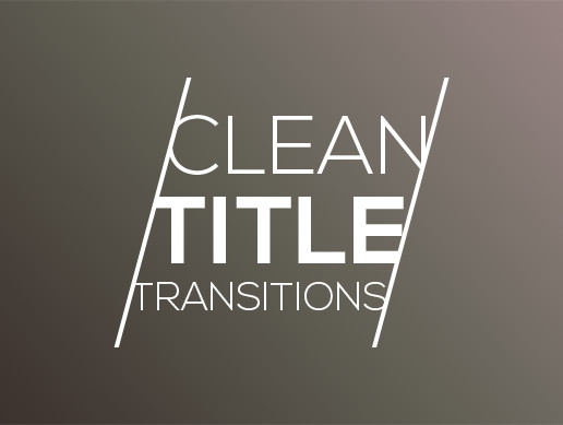 Clean Title Transitions - Pro
