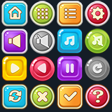 4300 Cartoon UI Buttons
