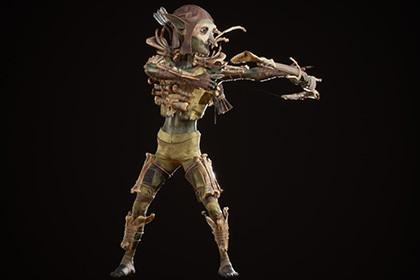 Goblin archer in bone armor