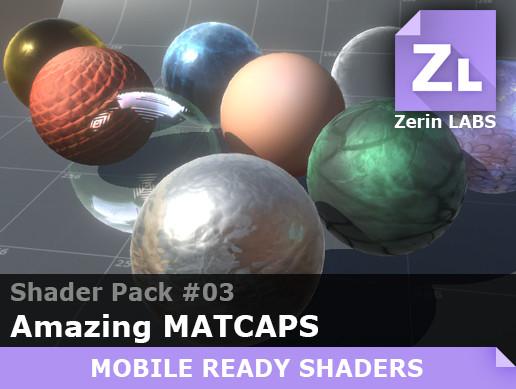 Shader pack 03 (Amazing Matcaps)