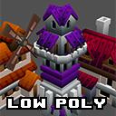 Simple low poly village buildings