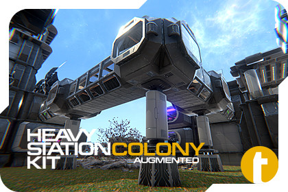 Sci-Fi Heavy Station Kit colony AUGMENTED