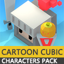 Cartoon Cubic Characters Pack