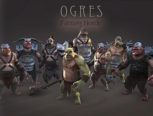 پکیج یونیتی Fantasy Horde - Ogres