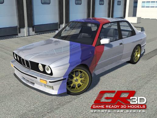 GR3D 80's Sports Car 013014SSCR - Asset Store
