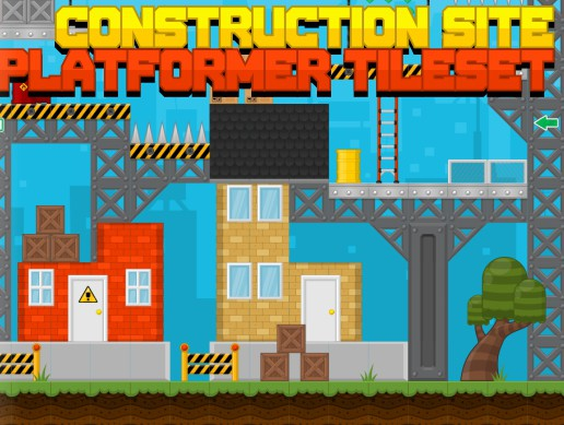 Construction Site - Platformer Tileset