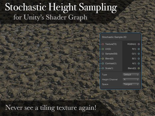 Stochastic Height Sampling Node for Unity's Shader Graph