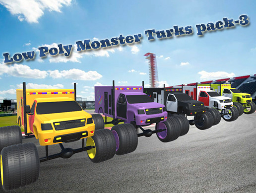 Low Poly Monster Turks pack-3