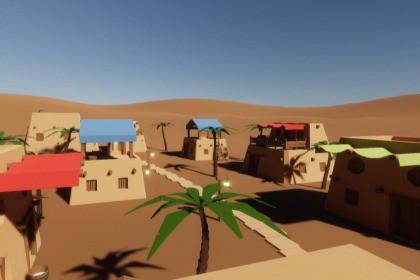 Desert Village (Houses) LowPoly