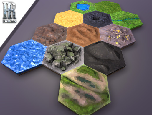 HexLands - Low Poly Style