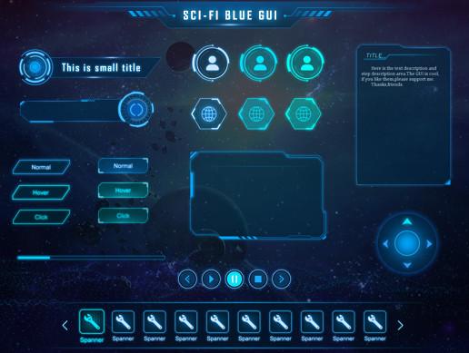 SCI-FI UI pack+psd