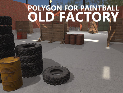 Polygon for paintball - old factory