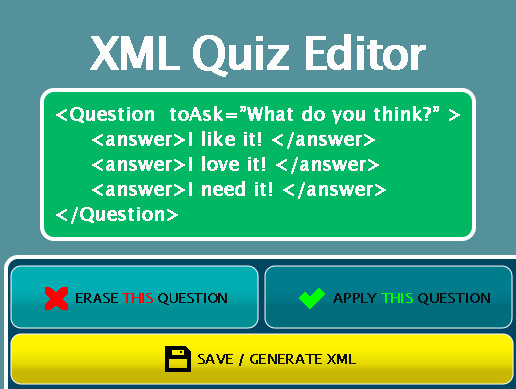 XML Quiz Editor