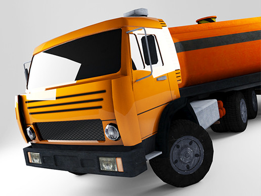 3D Low Poly Car For Games (Kamaz)