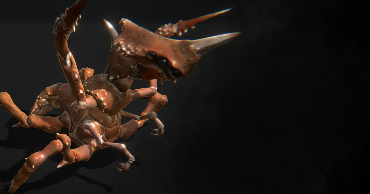 Insectoid Crab Monster: Lurker of the Shores (20 Animations)