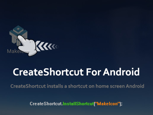 CreateShortcut For Android