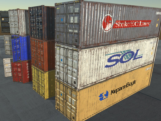 Shipping Containers (AAA / PBR textures )