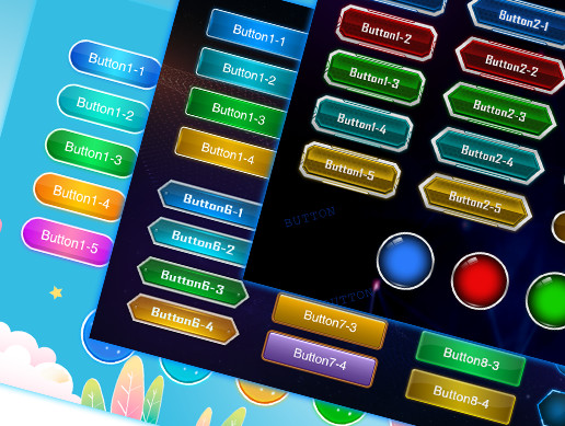 100+Beautiful Sweet Buttons Pack