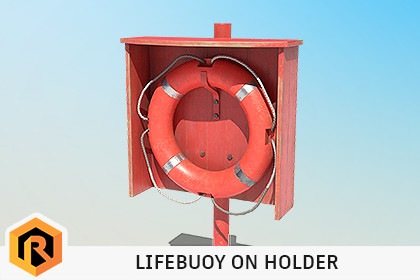 Lifebuoy On Holder