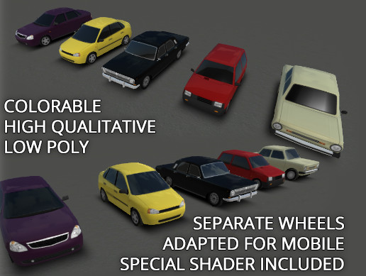 Rune's Low Poly Cars Pack 3
