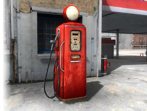 Vintage Gas Pump - Asset Store