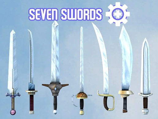 Seven Swords - Seven Stylized Swords
