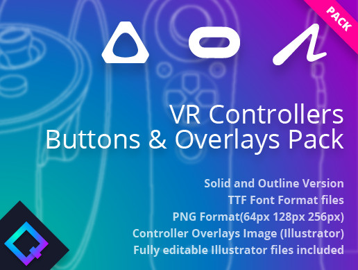 VR Controllers Buttons & Overlays Pack