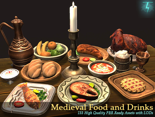 Food And Drink: Medieval Food And Drinks Mega Pack