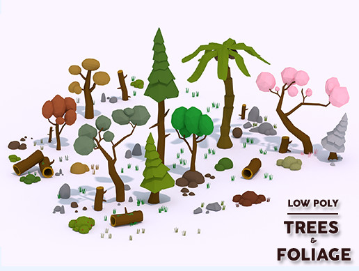 Low Poly - Trees and Foliage Pack