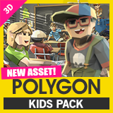 POLYGON Kids - Low Poly 3D Art by Synty