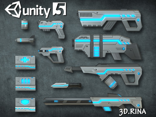 Sci-fi Weapons pack