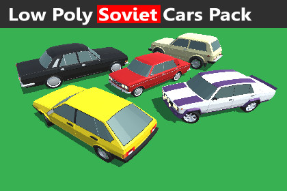 Low Poly Soviet Cars Pack
