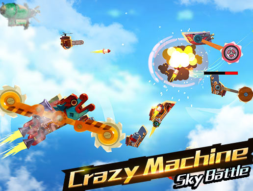 Crazy Machine Rotary Attack War 2D Sky Battle Cartoon Game Complete Template Kit(Mobile Friendly)