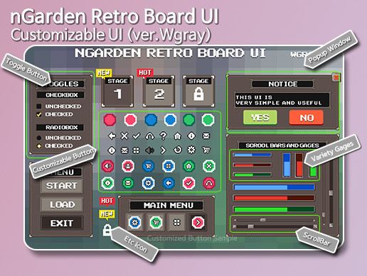 nGarden Retro Board UI (Wgray)