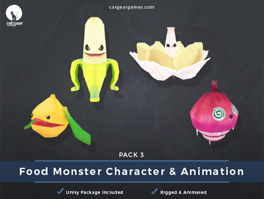 Food Monsters Character and Animation Pack 3