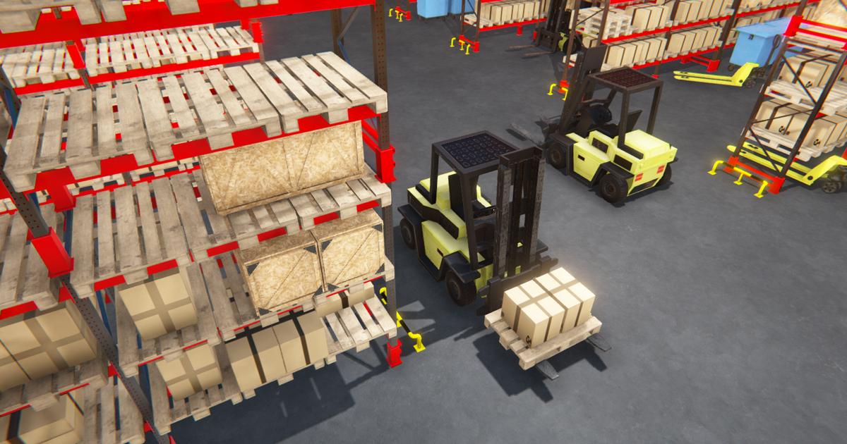 Warehouse - hangar interior and props