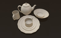 White Porcelain Dish Set Demo