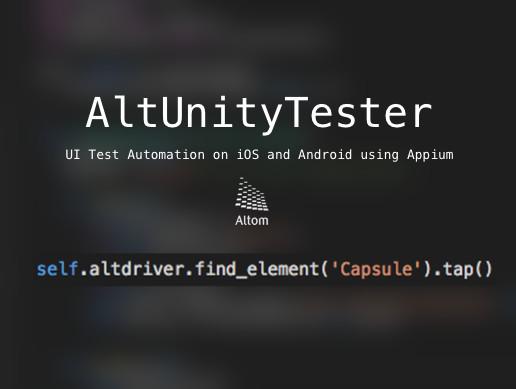 AltUnityTester - Asset Store