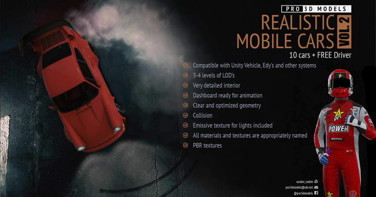 Realistic Mobile Cars vol. 2 + FREE Driver
