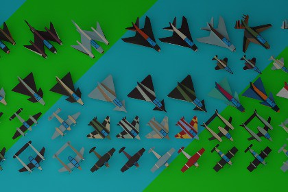 Simple LowPoly Airplanes