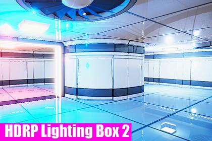 HDRP Lighting Box 2 Lit