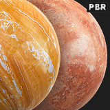PBR Colored Marble textures