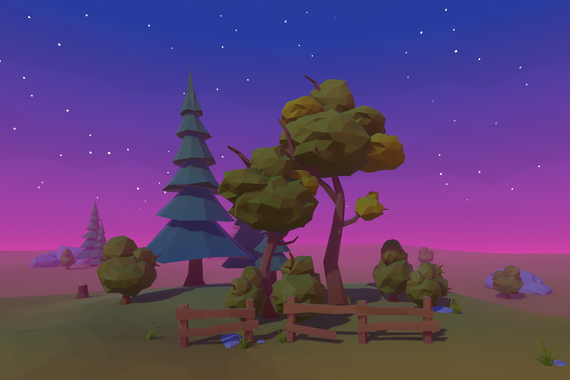 Polyverse Wind • Wind shaders compatible with any low poly assets