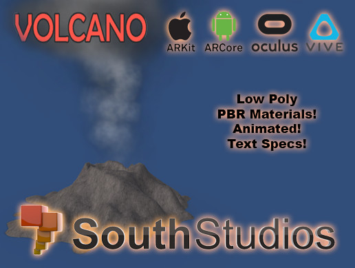 Animated Volcano AR VR