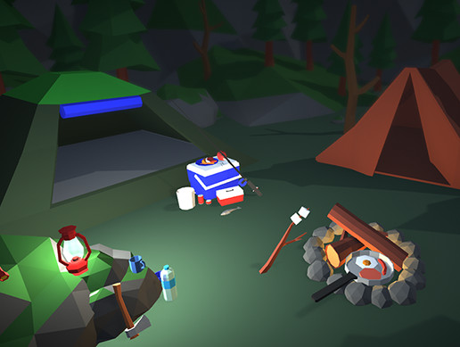 Lowpoly Camping Prop Pack