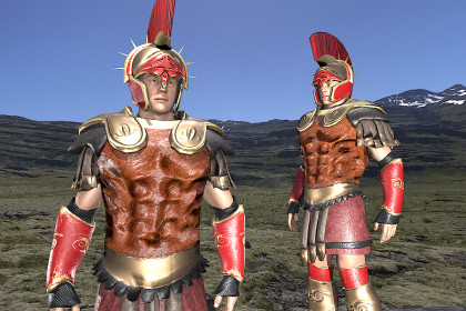Roman greek soldier