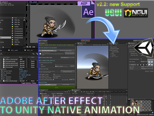 ae2unity after effect to unity animation asset store