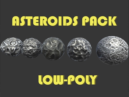 Asteroids low-poly pack