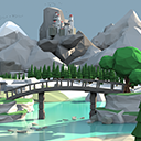 Low Poly Style Environment